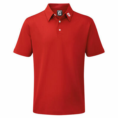 Footjoy Stretch Pique Athletic Fit Golf Shirt, Choice of Colours & Sizes
