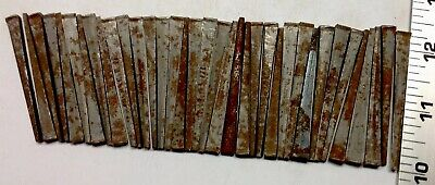 "LOT OF 36 ""BARN FIND"" VINTAGE  NOS UNUSED (rusted) 2 1/4"" INCH SQUARE CUT NAILS"