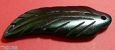 3 piece Bone Horn Pendant FEATHER Carved 4 inch # 36A