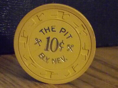 THE PIT CASINO $0.10 (10¢) hotel casino gaming poker chip ~ Ely, NV