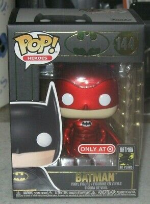 Batman 80 Years FUNKO POP Target RedCard Red Chrome Exclusive #144