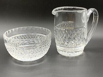 Waterford Crystal Creamer and Open Sugar Bowl. Mint Beautiful Condition
