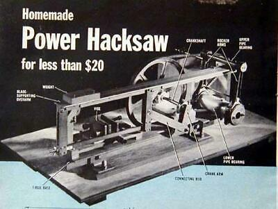 Build a Power Hacksaw handles 3x4 *No Machining* HowTo PLANS