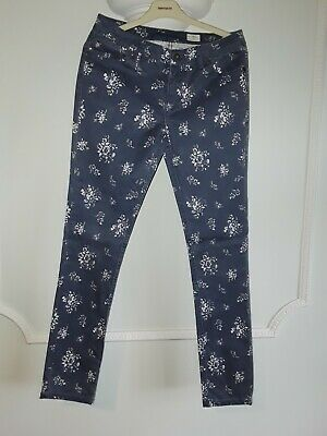 Johnnie b by Boden GirlsBlue & White Patterned Trousers size 30L Age 15-16