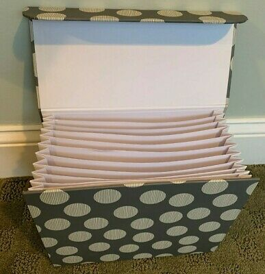 Accordion File Photo Organizer,11 Pockets with supply drawar