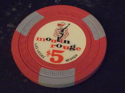 MOULIN ROUGE CASINO $5 hotel casino gaming poker chip ~ Las Vegas, NV