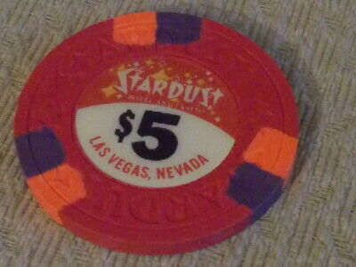 STARDUST CASINO $5 hotel casino gaming poker chip ~ Las Vegas, NV