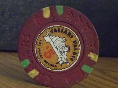 CAESARS PALACE CASINO $5 hotel casino gaming poker chip ~ Las Vegas, NV