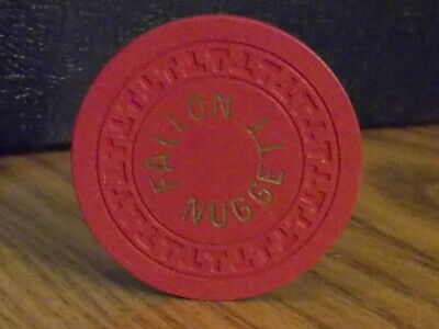 FALLON NUGGET CASINO $5 hotel casino gaming poker chip ~ Fallon, NV