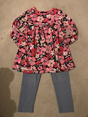 George Girls Floral Tunic And Leggings Set Age 4-5 Years