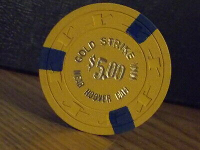 GOLD STRIKE INN CASINO $5 hotel casino gaming poker chip ~ Near Hoover Dam, NV