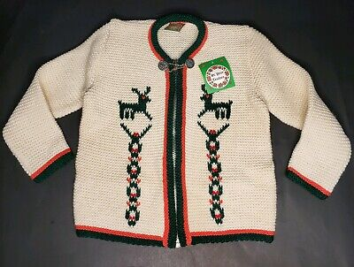 St Peter Trachten Zip Up Christmas Cardigan Sweater German Lederhosen 104 3t 4t