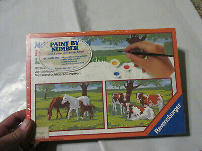 Ravensburger Paint By Numbers Animals 1983 Nos