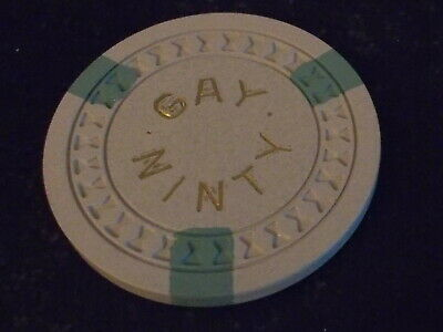 GAY NINTY HOTEL CASINO No Cash Value Shown hotel casino gaming poker chip