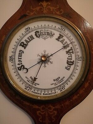 Antique Inlaid Barometer.Collection from Hoylake please.