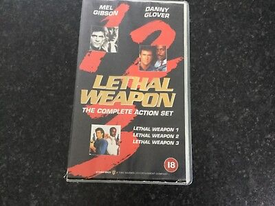 Lethal Weapon - The Complete Action Set VHS recordings