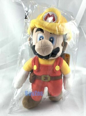 "GENUINE Super Mario Maker 2 Builder Mario Stuffed Plush 9.5"" Little Buddy 3109"