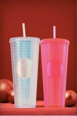 NEW Starbucks Holiday 2019 Studded Cold Cup Tumbler Winter Edition Venti 24 oz