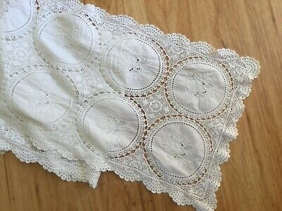 Crocheted & embroidered table runner
