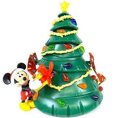 Disney Parks Mickey Mouse Christmas Tree Popcorn Bucket Light Up Holiday 2019