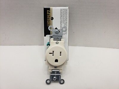 Leviton T5020-T 20-Amp single power outlet Light Almond Brand New in Box