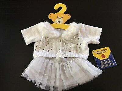 BNWT - White Sequence Skirt Set - Build A Bear Genuine Clothes