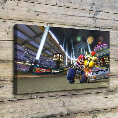 """16""""x30""""Mario Kart 8 posters Home Decor Room HD Canvas Print Wall Art Picture"""