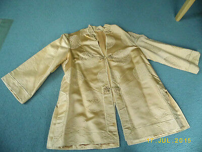 Ladies Chinese gold jacket size small