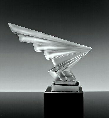 Art Deco Glass Car Mascot 1930' Hood Ornament Figurine H.Hoffmann