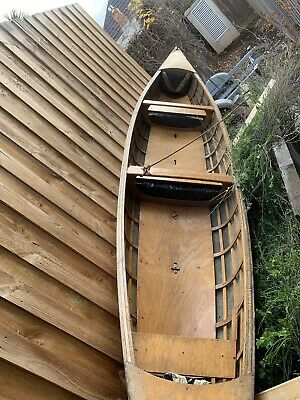 Canoe vintage canvas covered ideal display