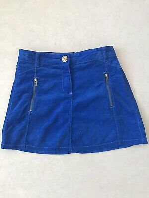 Girls Next Blue Soft Cord Skirt 9 Years