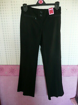 M & S BLACK SMART  TROUSERS  AGED 10 YEARS HEIGHT 140 CM (new with tag)