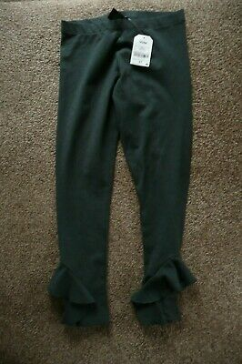 NEXT GREY FLARE TROUSERS WITH FRILL  AGED 10 YEARS OLD  140 CM (new)