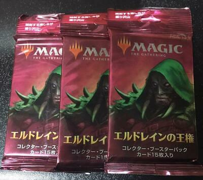 MTG Throne of Eldraine Collector Booster Packs 3 Set Japanese ver.