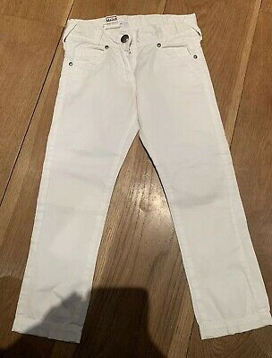Girls white skinny trousers for 4 Years from NEXT - worn twice