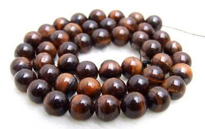 SALE small 8mm Red Round natural tiger's-eye gemstone Beads strand-los696