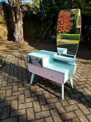 Retro Funky Child's 1960s Mid Century Dressing Table with Drawers and Mirror