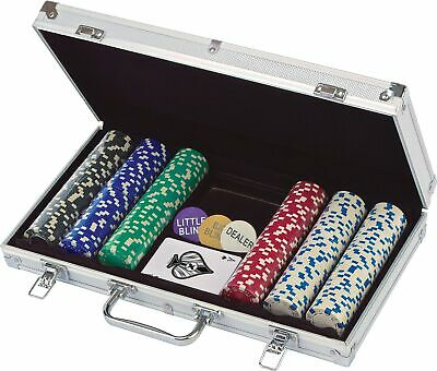 NEW Cardinal 300 Ct. Poker Chips 11.5 gram in Aluminum Case (styles will vary)