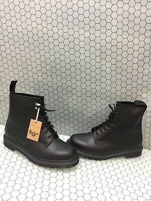 Dr. Martens 1460 MONO Black Smooth Leather Lace Up Ankle Boots Men's Size 11