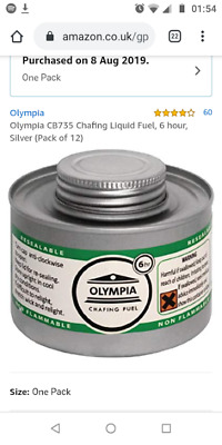 Olympia Liquid Chafing Fuel , 6 Hour Tins,fuel, silver, 12 pack. CB735 liquid