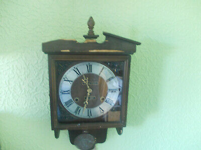 President 31 Day Chimming Wall Clock Working But Sold For Spares Or Restoration