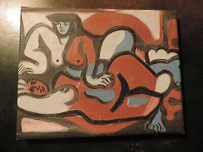 modern oil canvas Expressionist very nice 19 x 24cm UNSIGNED