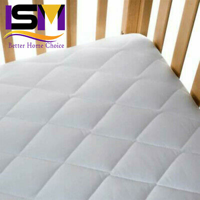 Baby Cot Bed Breathable QUILTED AND WATERPROOF Foam Mattress 120 x 60 x 10cm