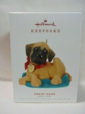 2019 Hallmark Keepsake Ornament Great Dane Puppy Love #29
