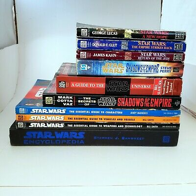 Star Wars 10 Book Lot Essential Guides, Original Trilogy, Encyclopedia