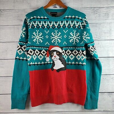 ALEX STEVENS MENS UGLY CHRISTMAS SWEATER Horse Head Sz Large L NEW Red shirt NWT