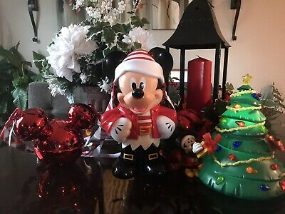 Disney Mickey Light Up Christmas Tree And Mickey Popcorn Bucket With Bell Sippy!