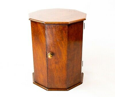 💯 1830 Small Mahogany Nonagon Cabinet Desk Cupboard Antique English Georgian