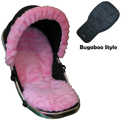 Luxury Fur Seat Liners and Hood Trim package for Bugaboo Pushchairs