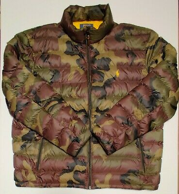 Mens Ralph Lauren signature Polo branded designer camouflage quilted jacket -XXL